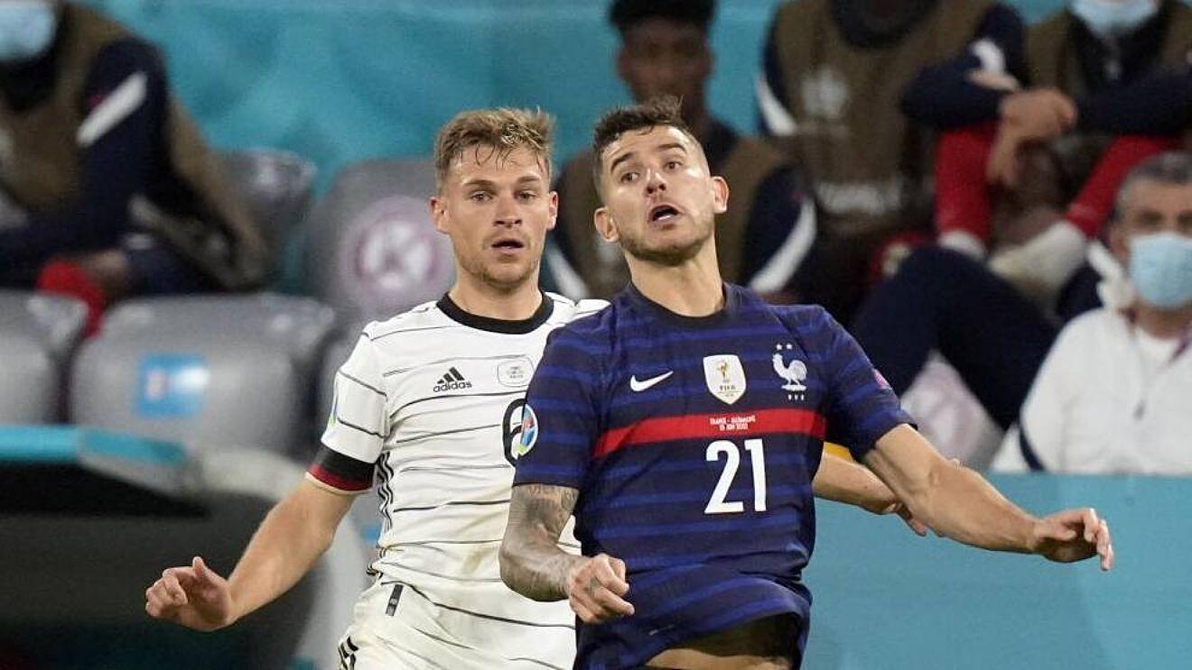 Lucas Hernández, en el partido ante Alemania