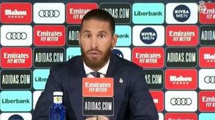Sergio Ramos, durante la rueda de prensa.