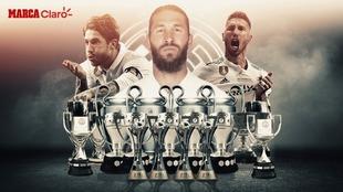 Sergio Ramos se va del Madrid con 22 títulos
