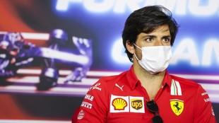 Carlos Sainz, durante la rueda de prensa dell jueves en el GP de...