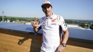 Marc Márquez, en Sachsenring.