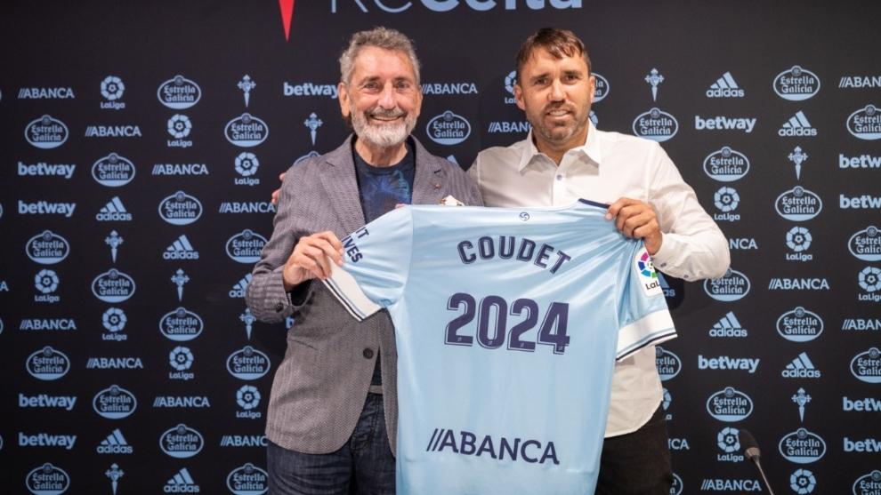 Coudet (46) en su renovación con el Celta de Vigo.