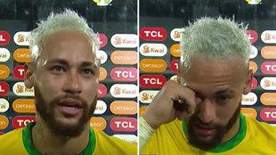 Neymar llora frente las cámaras tras salirse ante Perú