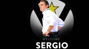 Montaje de la Virtus para anunciar el fichaje de Sergio Scariolo