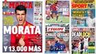 Las portadas: Morata y 13.000 más...