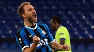 Christian Eriksen, con el Inter de Milán