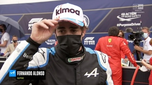 Fernando Alonso después de la Clasificación del Gran Premio de...