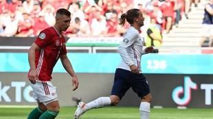 Griezmann, tras marcar el empate ante Hungría.