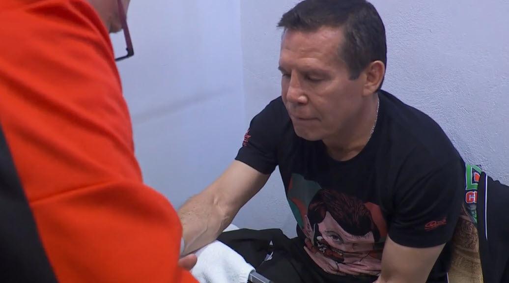 Julio César Chávez se prepara para su boxeo
