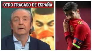"""Pedrerol: """"Morata no puede jugar ni un minuto más con la selección"""""""