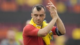Goran Pandev, jugador de Macedonia del Norte.