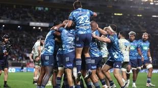 Blues celebra su triunfo en el Trans Tasman