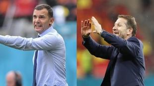 Shevchenko y Foda, seleccionadores de Ucrania y Austria en la...