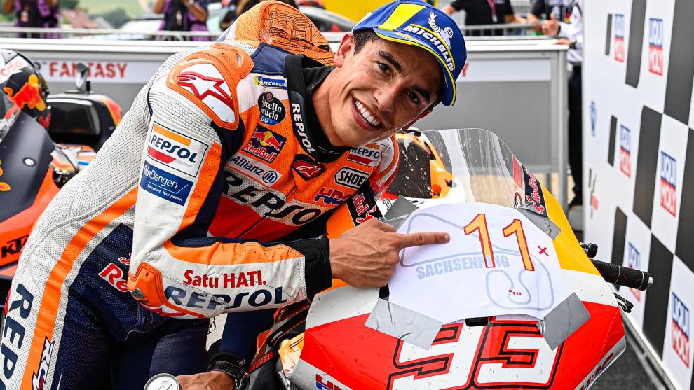 Marc disfruta con su undécima victoria seguida en Sachsenring.