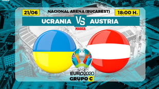 Ucrania - Austria: cita histórica en el Grupo C de la Eurocopa