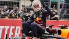 Max Verstappen celebra la victorie en el Gran Premio de Francia 2021.