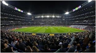 Imágen panorámica de un Real Madrid-Valencia, de 2018.