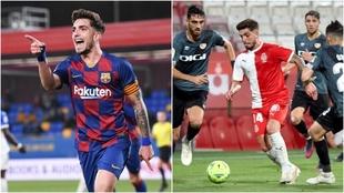 Monchu, con el Barça la temporada pasada y el Girona la actual