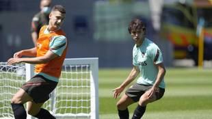 Joao Felix, en un entrenamiento con Portugal.