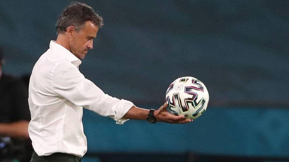 Luis Enrique, en la Eurocopa.