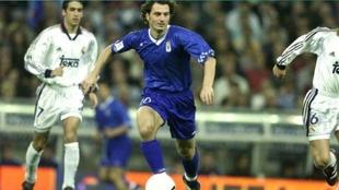 Peter Dubovsky durante su etapa en el Real Oviedo.