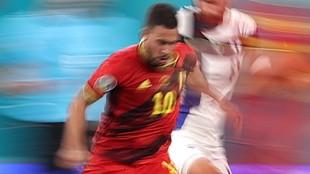 Eden Hazard, en el partido entre Bélgica y Finlandia de la Euro 2020