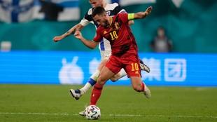 Eden Hazard, en el partido del lunes ante Finlandia