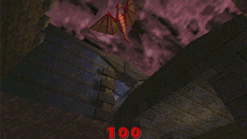 Fotograma de la primera versión de Quake que se desechó