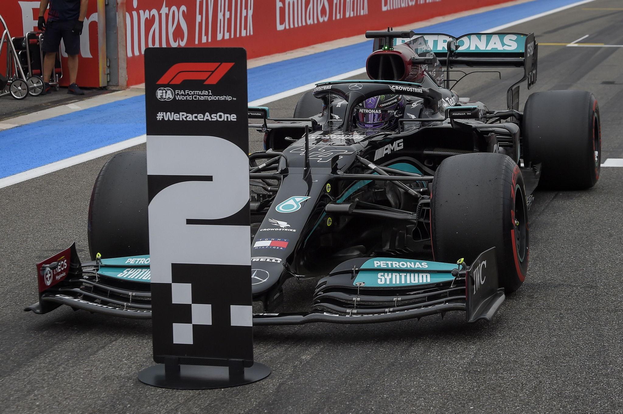 Lewis Hamilton quedó segundo en clasificación y en carrera en el GP de Francia