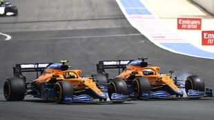 Lando Norris y Daniel Ricciardo en el GP de Francia