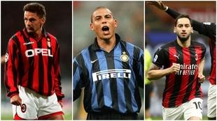Los cracks que han vestido la camiseta de Inter y Milan: Zlatan, Calhanoglu, Ronaldo, Baggio...
