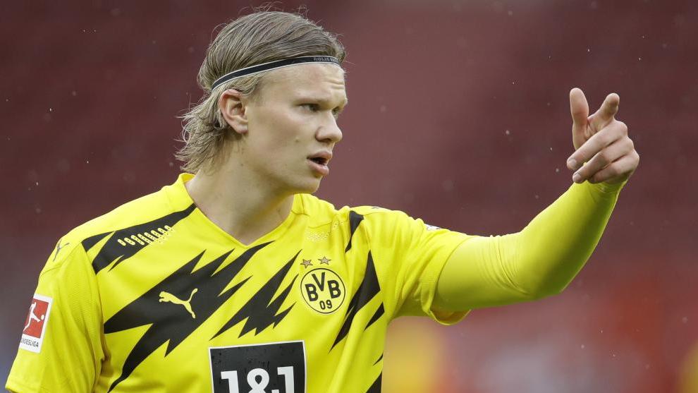 El noruego Haaland, en un partido con el Borussia.