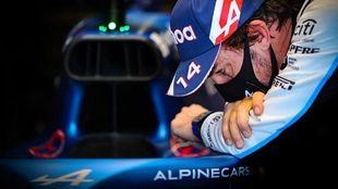 Fernando Alonso, con el Alpine.