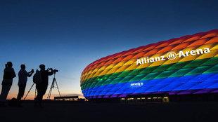 Imagen del Allianz Arena, anoche