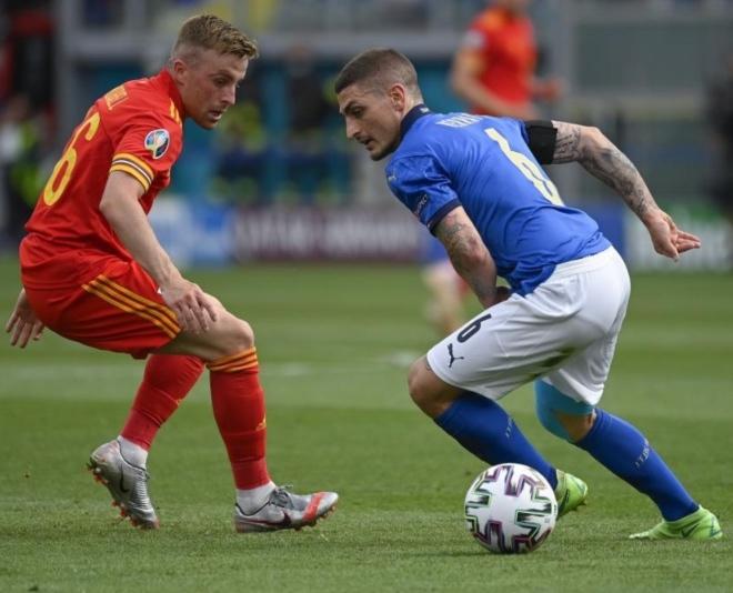 Verratti (28) durante un partido con Italia