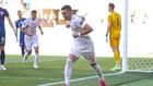 Ferran celebra el gol que marcó ante Eslovaquia.