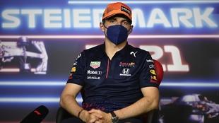 Max Verstappen en conferencia de prensa en Austria