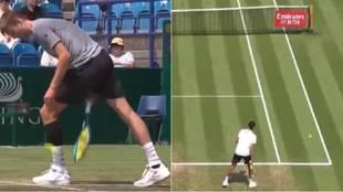El saque más surrealista en un partido de tenis: provocó hasta las risas de los comentaristas