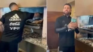 """El asado de Messi por su cumpleaños... con el Kun haciendo de chef: """"Tirando catarata de sabor"""""""