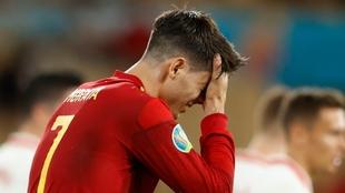 Morata, con la selección española.