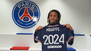 Ethan Mbappé firmó un nuevo contrato con el PSG para permanecer hata...