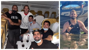 """Diego Costa, con los veteranos: """"De camino a Dubai"""""""