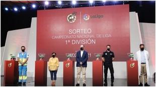 Imagen de archivo del último sorteo de LaLiga, celebrado en la RFEF.
