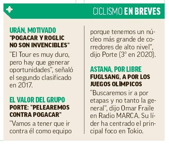 """Miguel Ángel López: """"Hice podio en Vuelta y Giro, me falta en el Tour..."""""""