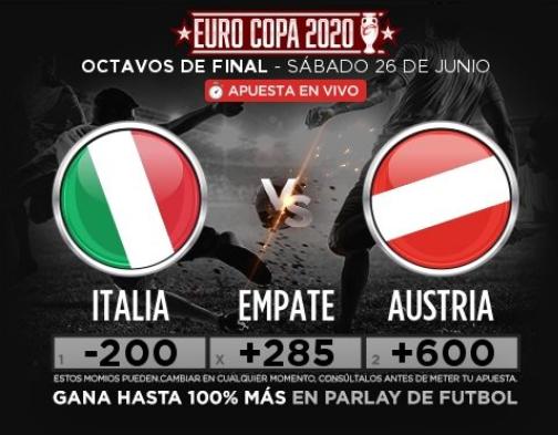 Clasificación Eurocopa: Italia vs Austria, ¿Quién avanza a cuartos de final? Apuestas, momios y pronósticos en directo