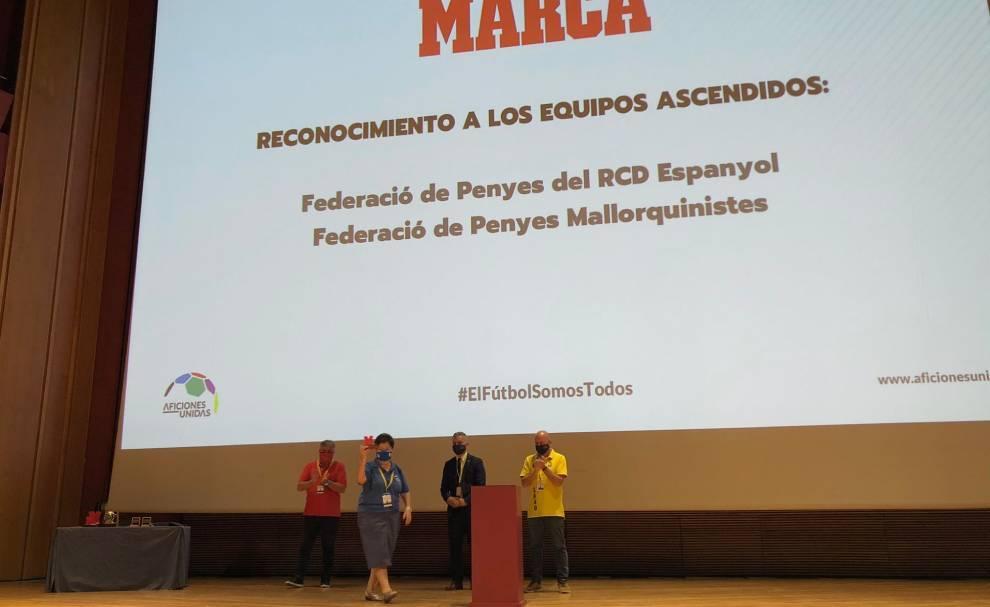 Las aficiones de Mallorca y Espanyol recogen sus distinciones