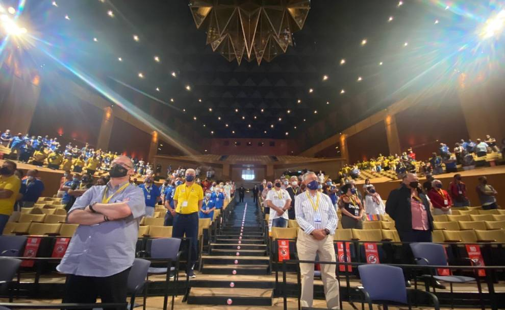 El imponente aspecto del Auditorio Alfredo Krauss de Las Palmas