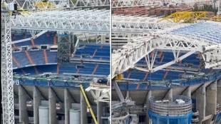 El 'esqueleto' del Bernabéu va tomando forma: así se instaló la espectacular cubierta retráctil
