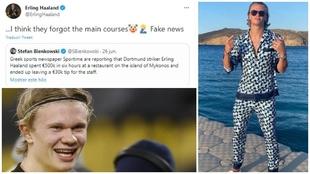El fake que hizo reaccionar a Haaland: cena de medio millón y 30.000 euros en propinas