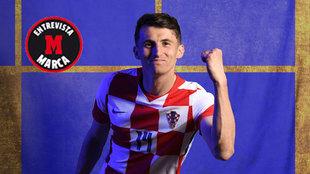 Budimir, jugador de Croacia y Osasuna